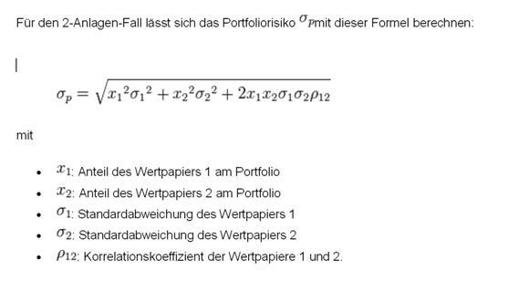 Formel Aktien