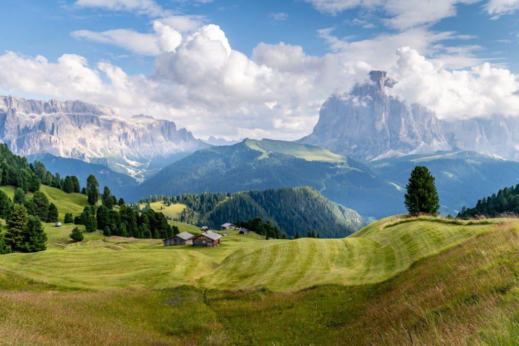 Blick auf einen Berg in Tirol