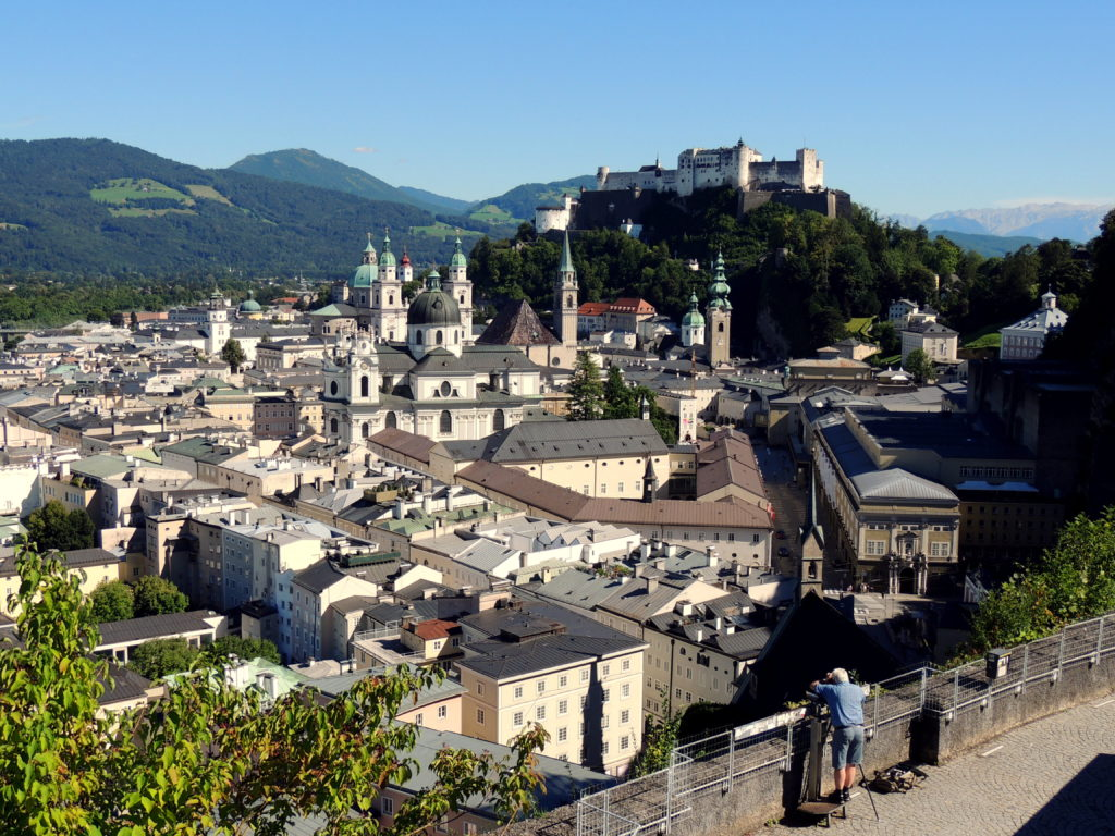 Ansicht von Salzburg inklusive Festung